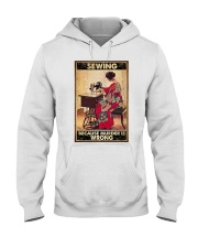 Sewing Because Murder Is Wrong Hooded Sweatshirt thumbnail