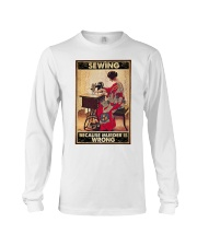 Sewing Because Murder Is Wrong Long Sleeve Tee thumbnail
