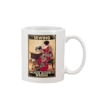 Sewing Because Murder Is Wrong Mug tile