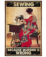 Sewing Because Murder Is Wrong Vertical Poster tile
