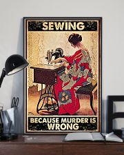 Sewing Because Murder Is Wrong 11x17 Poster lifestyle-poster-2