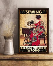 Sewing Because Murder Is Wrong 11x17 Poster lifestyle-poster-3