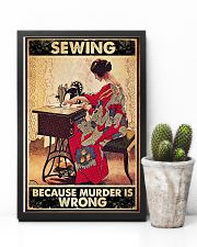 Sewing Because Murder Is Wrong 11x17 Poster lifestyle-poster-8