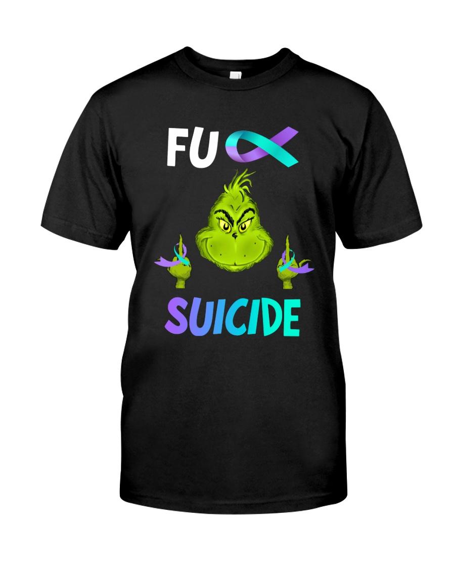 Green Ball Fck Suicide Classic T-Shirt