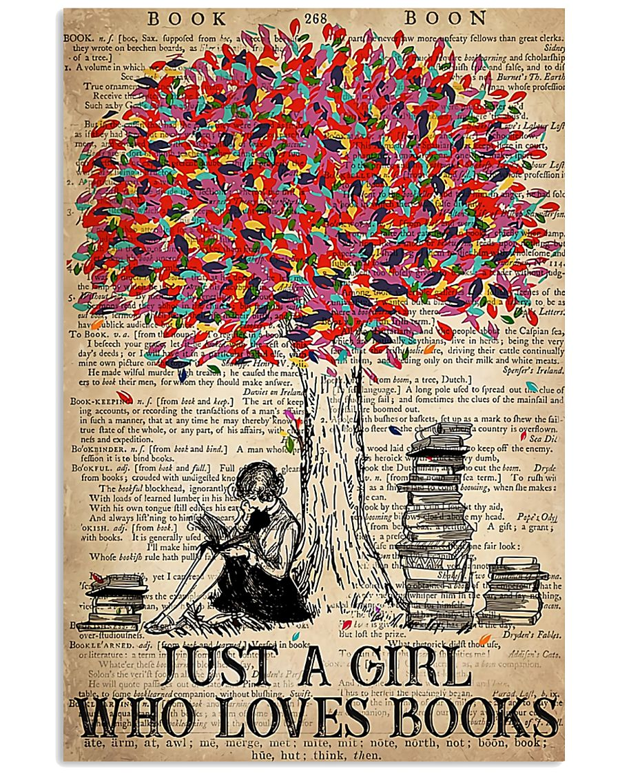 Just A Girl Who Loves Books 16x24 Poster