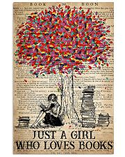 Just A Girl Who Loves Books 16x24 Poster front