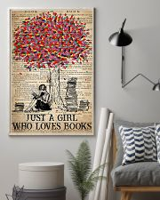 Just A Girl Who Loves Books 16x24 Poster lifestyle-poster-1