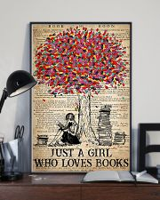 Just A Girl Who Loves Books 16x24 Poster lifestyle-poster-2