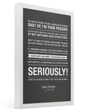 Shut Up You Are My Person 16x24 Gallery Wrapped Canvas Prints thumbnail