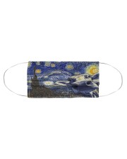 Heifer In Starry Night Cloth face mask aos-face-mask-coverlet-lifestyle-front-01