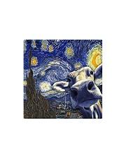 Heifer In Starry Night Square Magnet thumbnail
