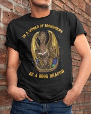 In A World Of Bookworms Classic T-Shirt apparel-classic-tshirt-lifestyle-26