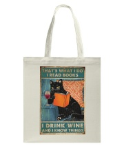 Drink Wine and know many things Tote Bag thumbnail