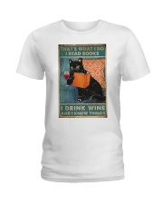 Drink Wine and know many things Ladies T-Shirt thumbnail
