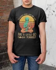 Alien Peace Love Light Classic T-Shirt apparel-classic-tshirt-lifestyle-31