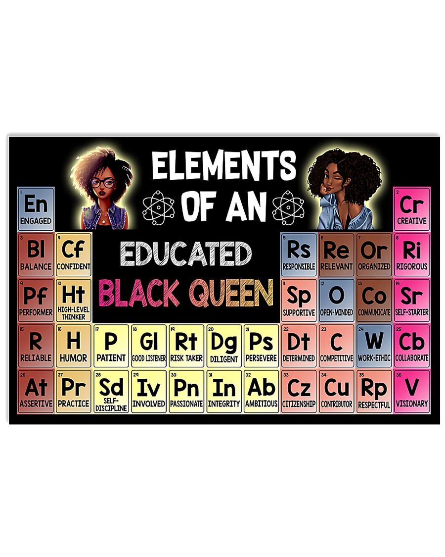 Elements Of An Educated Black Queen 36x24 Poster