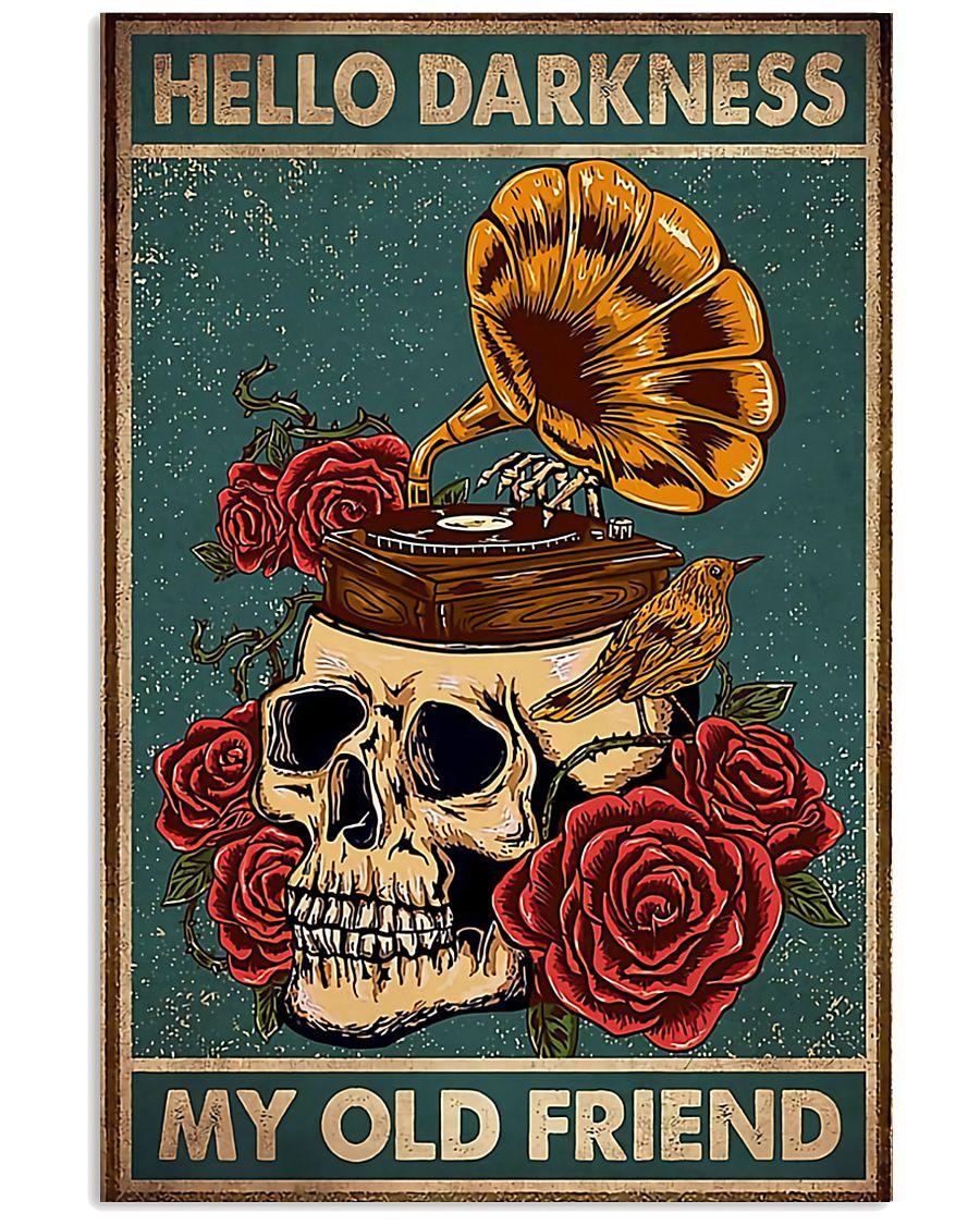 Vinyl Skull 11x17 Poster