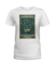 Gardening Because Murder Is Wrong Ladies T-Shirt thumbnail