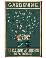 Gardening Because Murder Is Wrong 11x17 Poster front