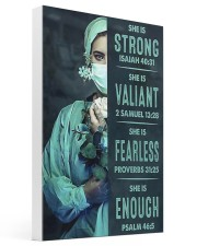 She is Strong poster 16x24 Gallery Wrapped Canvas Prints thumbnail