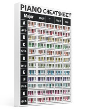 Piano Chords Cheatsheet 16x24 Gallery Wrapped Canvas Prints thumbnail