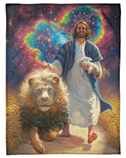 "Hippie Jesus Small Fleece Blanket - 30"" x 40"" thumbnail"
