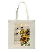 Sunflower Bee Tote Bag thumbnail