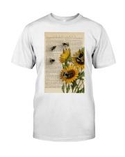 Sunflower Bee Classic T-Shirt thumbnail