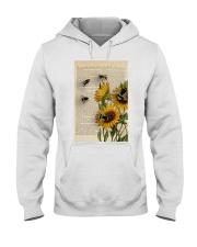 Sunflower Bee Hooded Sweatshirt thumbnail