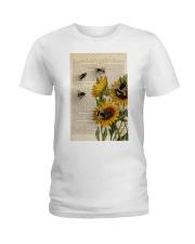 Sunflower Bee Ladies T-Shirt thumbnail
