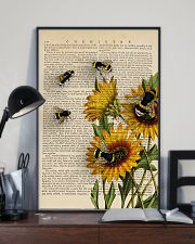 Sunflower Bee 11x17 Poster lifestyle-poster-2