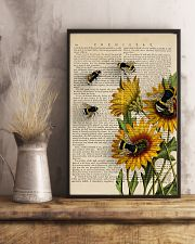 Sunflower Bee 11x17 Poster lifestyle-poster-3
