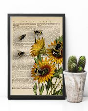 Sunflower Bee 11x17 Poster lifestyle-poster-8