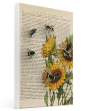 Sunflower Bee 16x24 Gallery Wrapped Canvas Prints thumbnail
