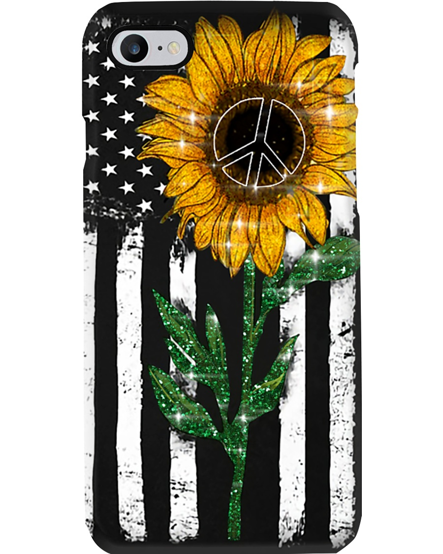 Peace Sunflower Phone Case