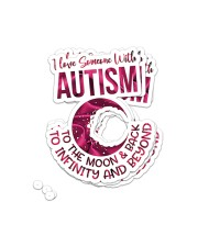 Autism Awareness Puzzle Sticker - 4 pack (Vertical) front