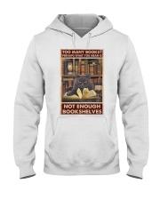 Too Many Books Hooded Sweatshirt thumbnail