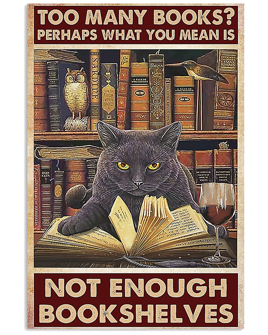 Too Many Books 11x17 Poster