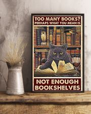 Too Many Books 11x17 Poster lifestyle-poster-3