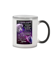 To My Wolf Daughter Color Changing Mug thumbnail