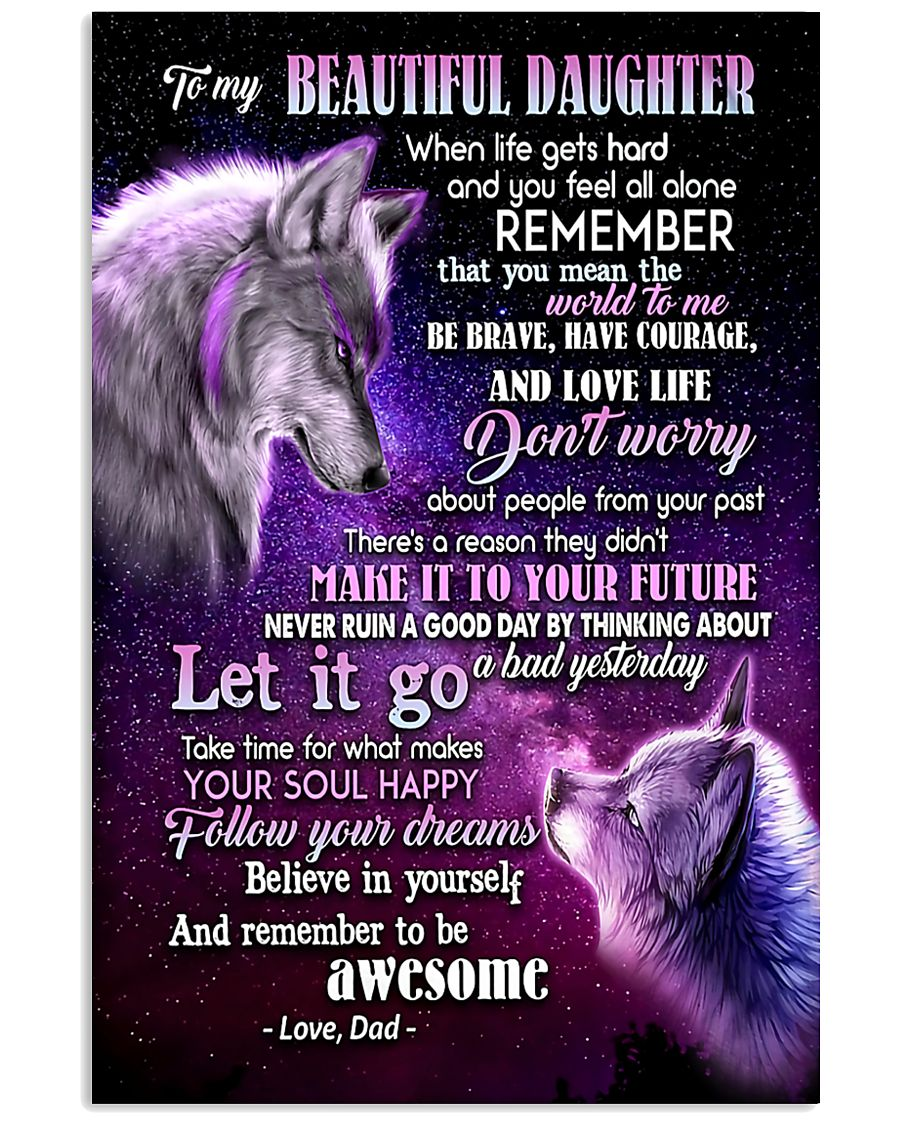 To My Wolf Daughter 11x17 Poster