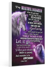 To My Wolf Daughter 16x24 Gallery Wrapped Canvas Prints thumbnail