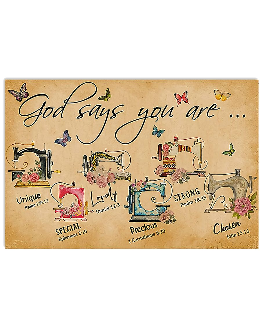 Sewing God Says You Are 17x11 Poster