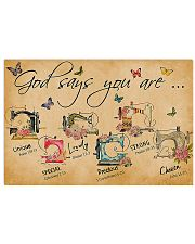 Sewing God Says You Are 17x11 Poster front