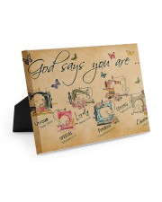 Sewing God Says You Are 10x8 Easel-Back Gallery Wrapped Canvas thumbnail