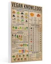 Vegan Knowledge 16x24 Gallery Wrapped Canvas Prints thumbnail
