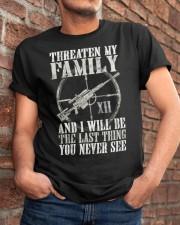 Threaten My Family Classic T-Shirt apparel-classic-tshirt-lifestyle-26