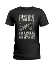 Threaten My Family Ladies T-Shirt thumbnail