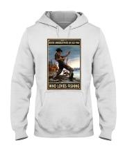 I Love Fishing Hooded Sweatshirt thumbnail
