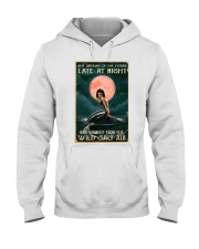 Mermaid At Night Hooded Sweatshirt thumbnail